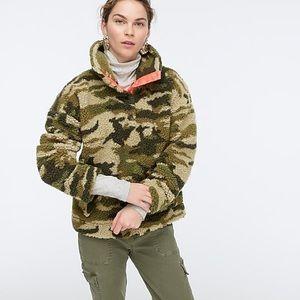 Jcrew army camouflage Sherpa fleece jacket xxl
